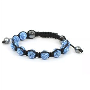 10mm Crystal Disco Ball Macramé Shamballa Bracelet